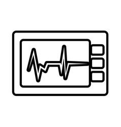 Ekg machine cardiology icon vector