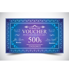 Elegant Voucher Design for 500 dollars payment vector image