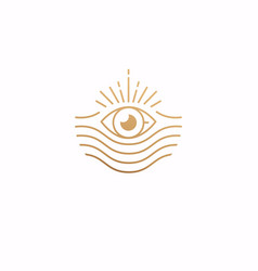 eye with simple style logo simple logo vector image