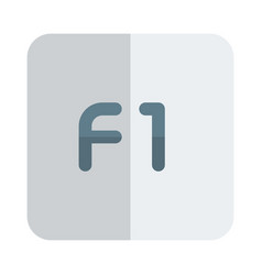 F1 help key function computer button layout vector