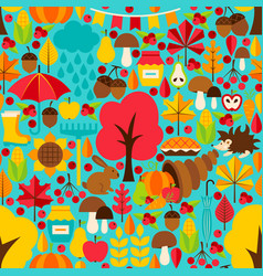Fall seasonal seamless pattern vector