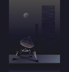 fictional robot receiver vector image