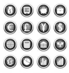 financial icon set vector image