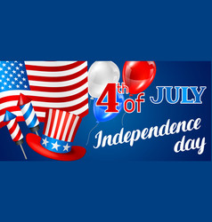 fourth july independence day banner american vector image