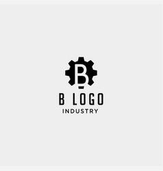 Gear machine logo initial b industry icon design vector