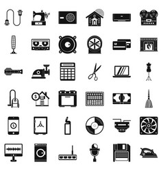 Household icons set simple style vector