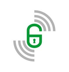 initial g smart lock remote symbol graphic icon vector image