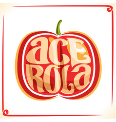 logo for acerola cherry vector image