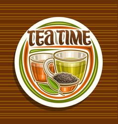 Logo for tea time vector
