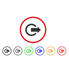 Logout rounded icon vector