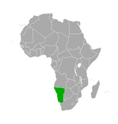map namibia in africa vector image