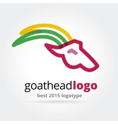 New year goat logotype isolated on white vector image