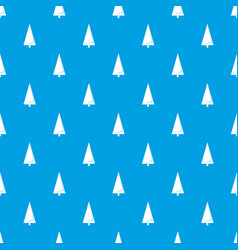 origami fir tree pattern seamless blue vector image
