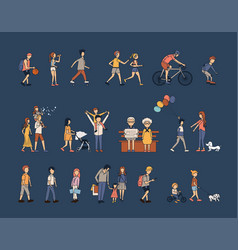 people group activities life style vector image