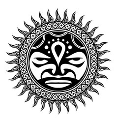 polynesian tattoo 0004 vector image