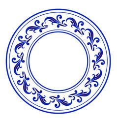 porcelain decorative frame vector image