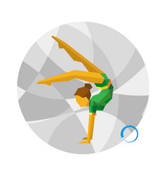Rhythmic gymnastics with ball vector