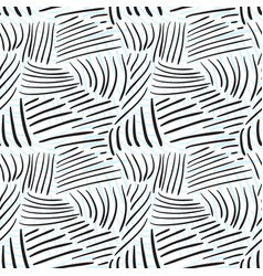 Seamless pattern with chaotic line textures hand vector