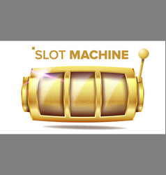 Slot machine golden lucky empty slot vector