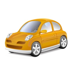Small yellow car vector
