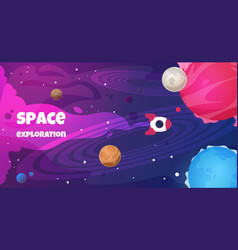 space text background future galaxy shape science vector image