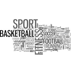sport word cloud concept vector image