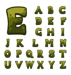 Stone game alphabet for user interfaces vector image
