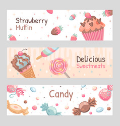 Sweets banners set vector
