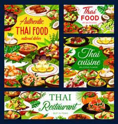 thailand cuisine restaurant meals menu banners vector image