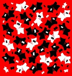 The pattern of butterflies vector image