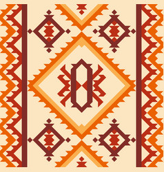 Tribal navajo ornament geometric abstract pattern vector