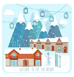 Welcome to the ski resort banner vector