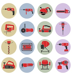 electric power tools vector image
