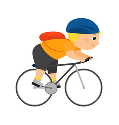 enthusiastic cartoon cyclist vector image