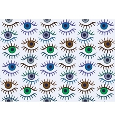 Eye silhouette seamless pattern vector image vector image