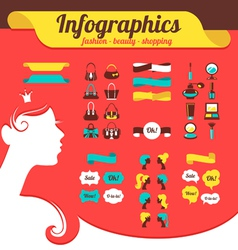 Fashion womens infographics vector image vector image