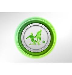 football circle green vector image