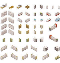 isometric supermarket equipment vector image vector image