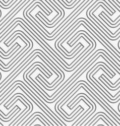 Perforated striped square spirals fastened vector image