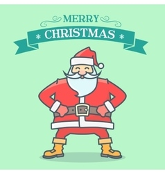 Santa greeting card vector image vector image