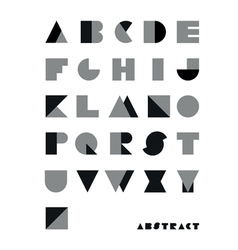 abstract font from geometrical figures vector image