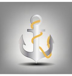 Anchor stencil icon vector image