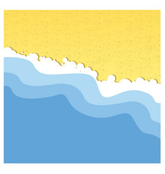 background beach with sea and sand vector image