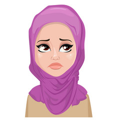 Face expression of arabic woman - crying vector