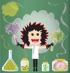 mad scientist birthday party vector image vector image