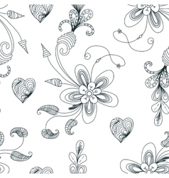 Seamless floral pattern with texture for fabric or vector image vector image