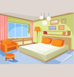 cartoon interior orange-blue vector image