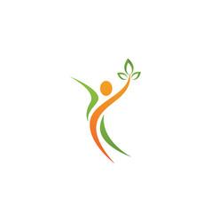 fun people logo vector image vector image