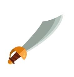Knight sword isolated cartoon vector image