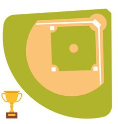 baseball field cartoon icon batting design vector image
